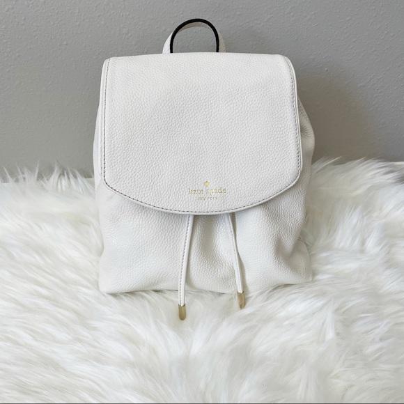 Kate Spade White Backpack Purse